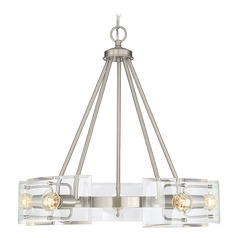 Satin Nickel Chandelier Cardella Collection by Savoy House
