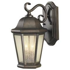 Outdoor Wall Light with Clear Glass in Corinthian Bronze Finish