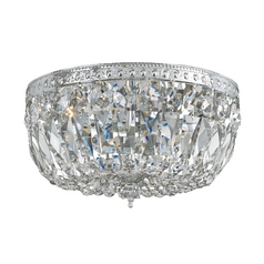 Crystal Flushmount Light in Polished Chrome Finish