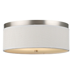 14-7/8 Inch Flushmount Drum Shade Ceiling Light