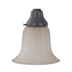 Design Classics Lighting Caramelized Glass Replacement Shade - 2-1/4-Inch Fitter Opening G9440