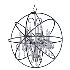 Maxim Lighting Orbit Anthracite and Polished Nickel Pendant Light