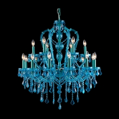 Avenue Lighting Ocean Drive Blue Crystal Chandelier