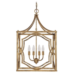 Capital Lighting Antique Gold Pendant Light