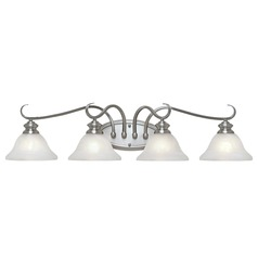 Golden Lighting Lancaster Pewter Bathroom Light