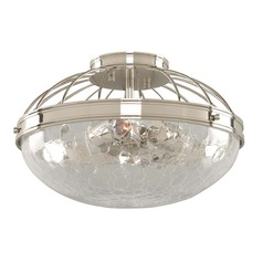 Kalco Montauk Polished Nickel Flushmount Light