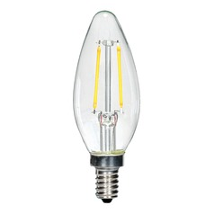 Carbon Filament LED Candelabra Torpedo Light Bulb 13-Watt Equivalent by Satco
