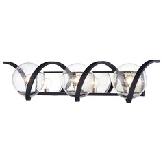 Maxim Lighting Curlicue Black / Polished Nickel Bathroom Light
