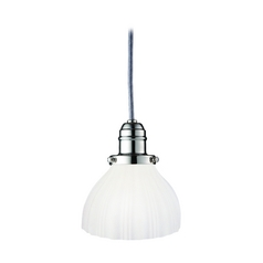 Hudson Valley Lighting Mini-Pendant Light with White Glass 3101-PN-444