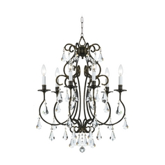 Crystal Mini Chandelier In English Bronze Finish