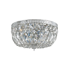 Crystal Semi-Flushmount Light in Polished Chrome Finish