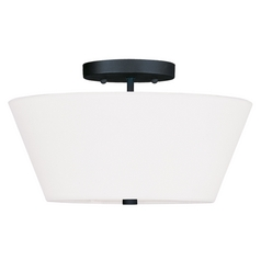 Livex Lighting Mendham Black Semi-Flushmount Light