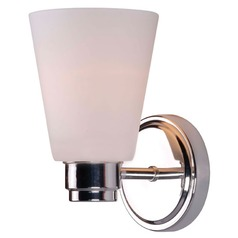 Kenroy Home Lighting Rockdale Polished Nickel Sconce