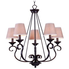 Kenroy Home Lighting Basket Oil Rubbed Bronze Chandelier