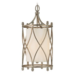 Capital Lighting Fifth Avenue Winter Gold Mini-Pendant Light with Cylindrical Shade