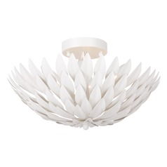 Crystorama Lighting Broche Matte White Semi-Flushmount Light