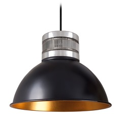 Industrial Black and Gold LED Pendant 3000K 330LM
