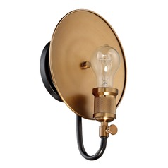 Mid-Century Modern Sconce Black / Brass Eclipse by Craftmade Lighting