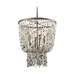 Elk Lighting Agate Stones Weathered Bronze Mini-Chandelier