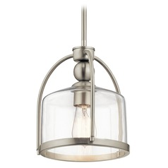 Modern Pendant Light Brushed Nickel by Kichler Lighting