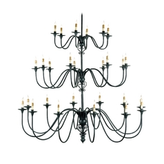 Chandelier in Antique Black Finish