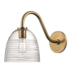Hudson Valley Lighting Remsen Aged Brass Sconce