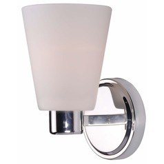 Kenroy Home Lighting Scarsdale Polished Nickel Sconce