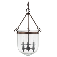 Capital Lighting Burnished Bronze Pendant Light with Bowl / Dome Shade
