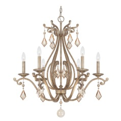 Savoy House Lighting Federico Martinez Oxidized Silver Crystal Chandelier
