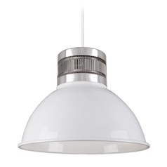 Industrial White LED Pendant 3000K 490LM