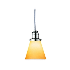 Hudson Valley Lighting Mini-Pendant Light with Amber Glass 3101-PN-505A