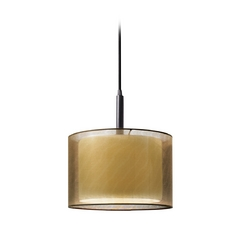 Modern Mini-Pendant Light with Brown Shade