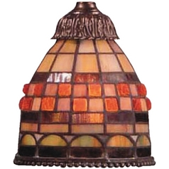 Bell Tiffany Glass Shade - 2-1/4-Inch Fitter Opening