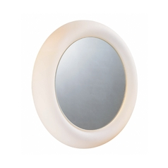 Oki Round 16.5-Inch Illuminated Mirror