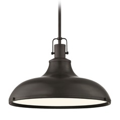 Nautical Bronze Pendant Light 15.63-Inch Wide