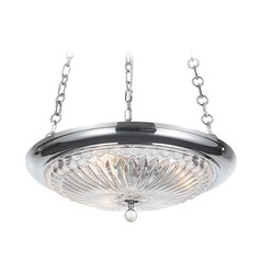 Crystorama Lighting Celina Polished Chrome Pendant Light with Bowl / Dome Shade