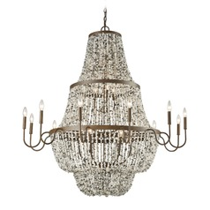 Elk Lighting Agate Stones Weathered Bronze Chandelier