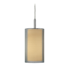 Modern Mini-Pendant Light with Silver Shade