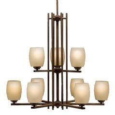 Kichler Eileen 2-Tier 9-Light Chandelier in Olde Bronze