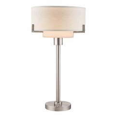 Modern Table Lamp with White Drum Shade
