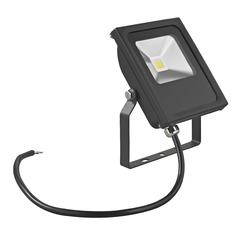 LED Flood Light Black 10-Watt 120v-277v 910 Lumens 4000K 110 Degree Beam Spread