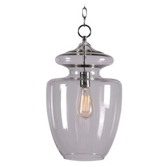 Kenroy Home Lighting Apothecary Chrome Pendant Light with Urn Shade