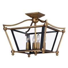 Maxim Lighting Ritz Natural Aged Brass Semi-Flushmount Light