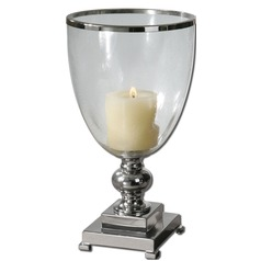 Uttermost Lino Clear Glass Candleholder