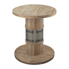 Sterling Lighting Washed Pine Wood Finish Accent Table