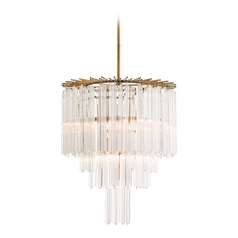 Arteriors Home Lighting Lechtford Antique Brass Pendant Light