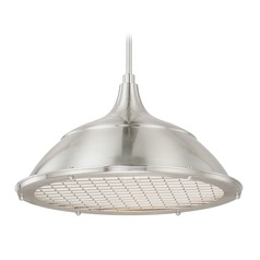 Capital Lighting Pendants Brushed Nickel Pendant Light with Bowl / Dome Shade