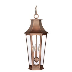 Preston Brushed Copper Outdoor Hanging Light by Vaxcel Lighting