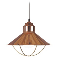 Nautical Pendant Light in Copper Finish