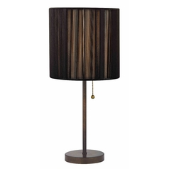 Table Lamp with Black Shade in Remington Bronze Finish